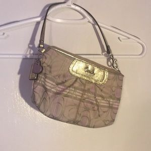 Coach lavender and silver wristlet bag. Brand new.